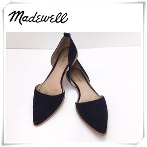 Madewell Lydia Suede Flats Shoes Black